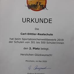 Carl-Dittler-Realschule ausgezeichnet