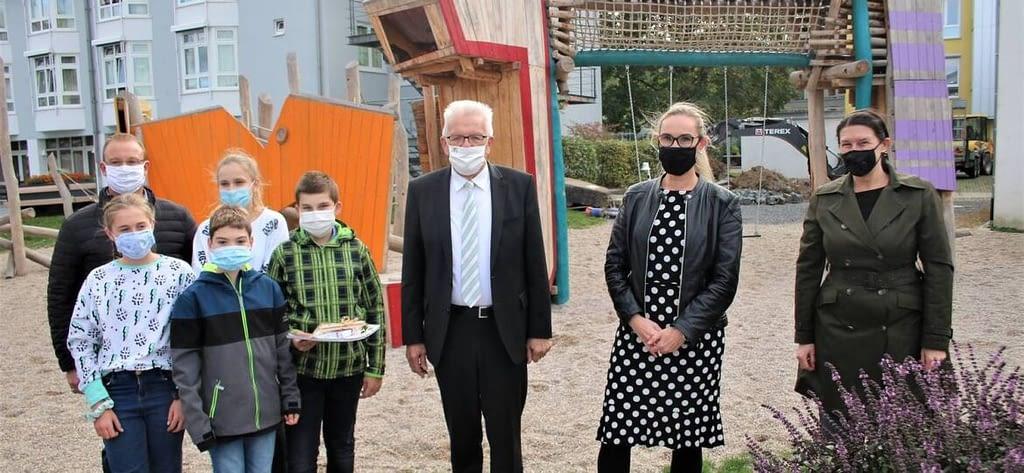 Ministerpräsident Winfried Kretschmann an der Carl Dittler Realschule Wilferdingen Remchingen