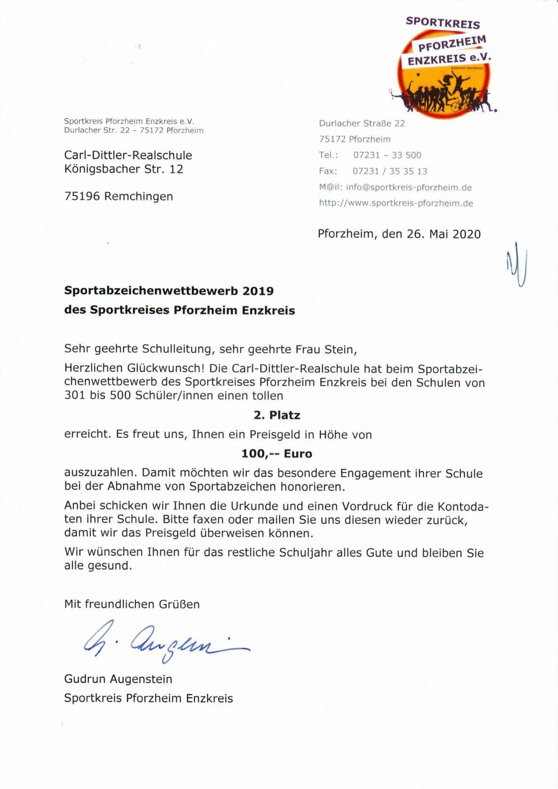 CDRS erfolgreich beim Sportabzeichenwettbewerb