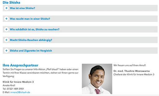 """""""Pfeif drauf""""   Vortrag von Dr. Weerawarna zum Thema Rauchen und Shisha Konsum"""